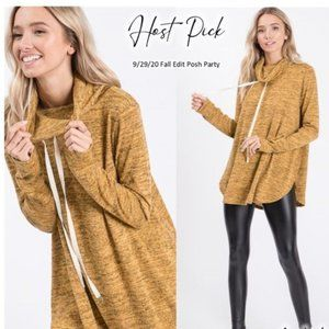 HOPELY Hooded Long-Sleeve - Mustard - Small